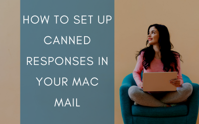 How to set up canned responses in your MAC Mail